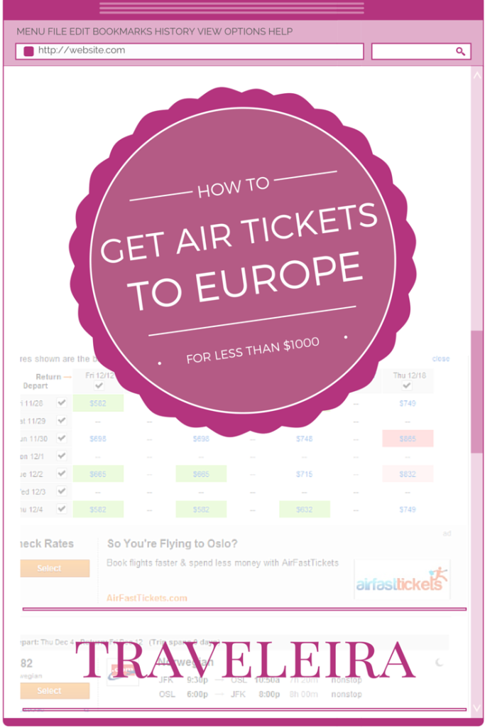 How to get Air Tickets for less than $1000